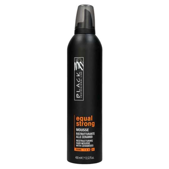 Equal Strong Hair Mousse odżywcza pianka z ceramidami mocna 400 ml Black